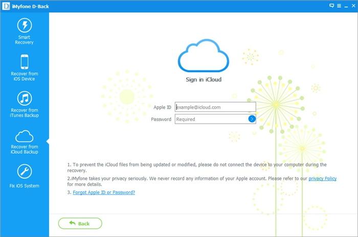 5.Log in iCloud Account
