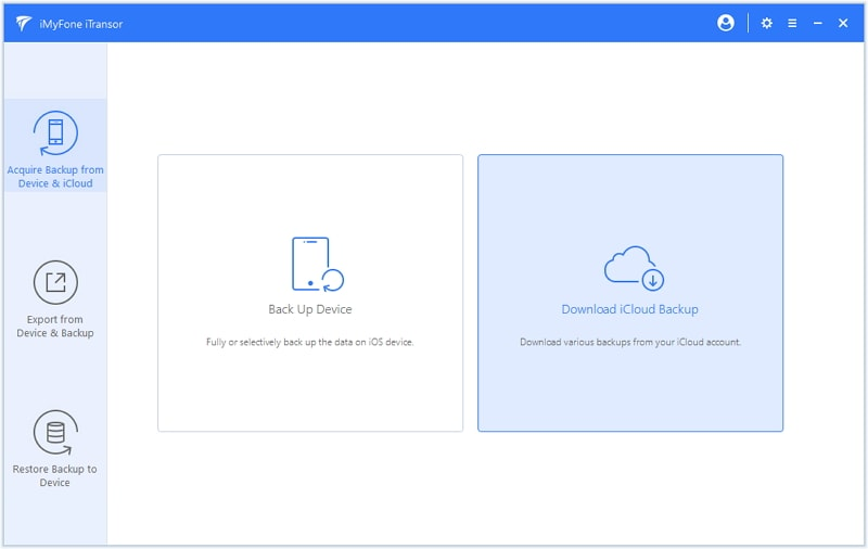 choose to download icloud backup