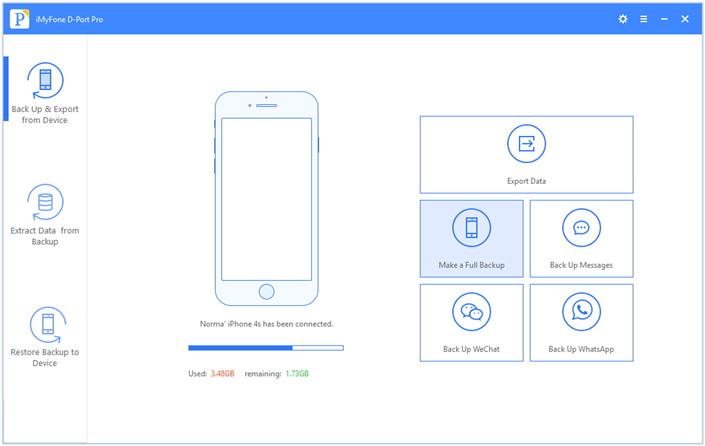 make a full backup of iOS device