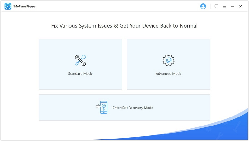 launch iMyFone iOS System Recovery software