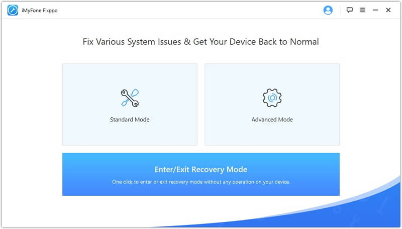 select enter recovery mode option