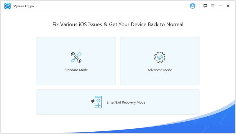 start screen of iMyFone iOS System Recovery