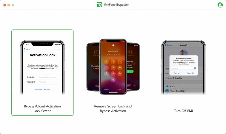 Select Bypass iCloud Activation Lock Screen