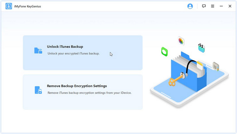 choose unlock itunes backup