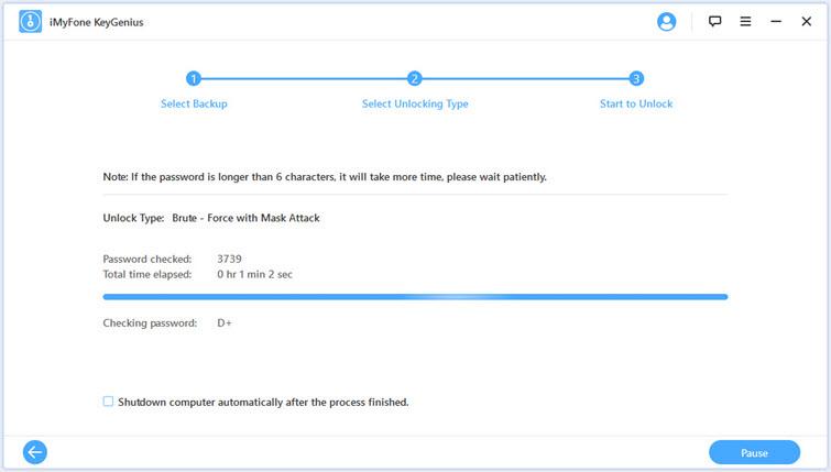 完成解密iTunes備份密碼