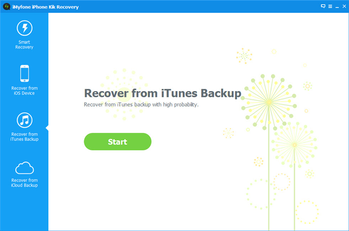 choose extract kik from itunes backup