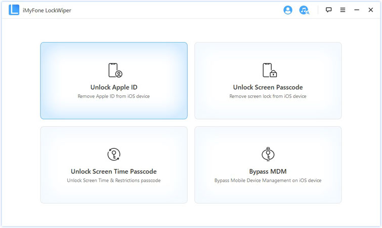 iMyFone LockWiper unlock apple id