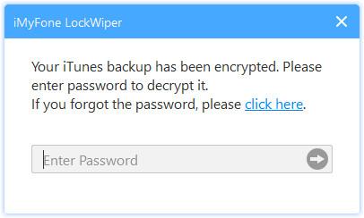 Enter iTunes backup password