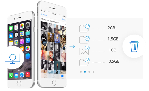 One Click to Free up Massive Space for iOS Devices