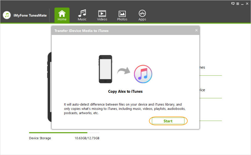 transfer idevice media to itunes 2