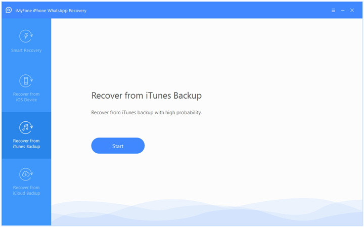 Recover WhatsApp Chat from iTunes Backup