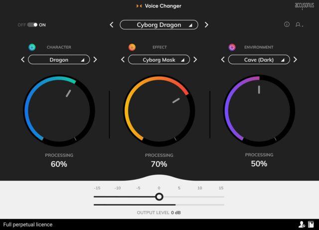 Accusonus Voice Changer interface