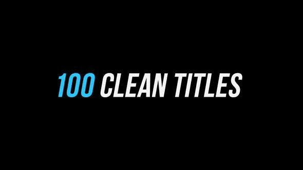 100 Clean Tiles