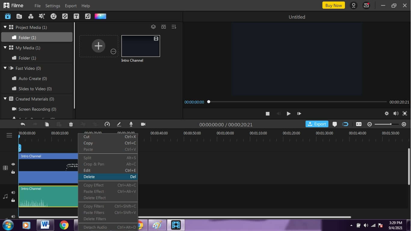 Delete-audio-from-video-using-iMyfone-Filme