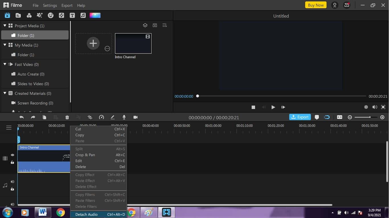 Detach-audio-using-iMyfone-Filme