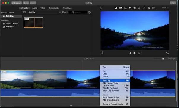 Imovie-select-split-clip-option