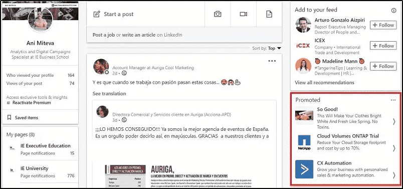 Linkedin Video Ads Text Ads