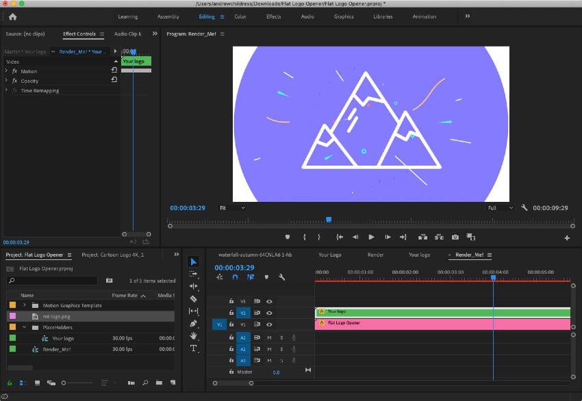 Premiere-add-logo