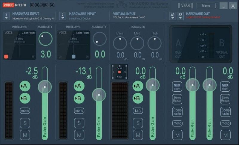 Voicemeeeter interface