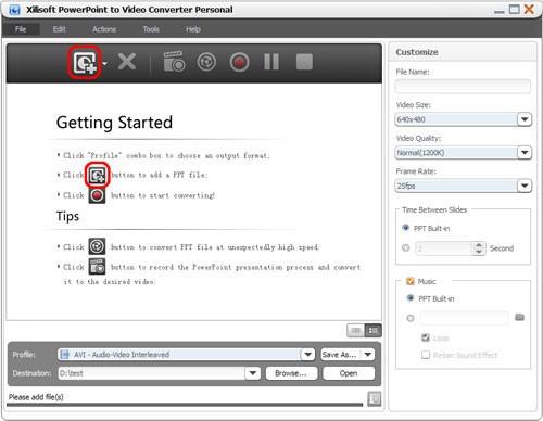 Xilisoft add ppt files