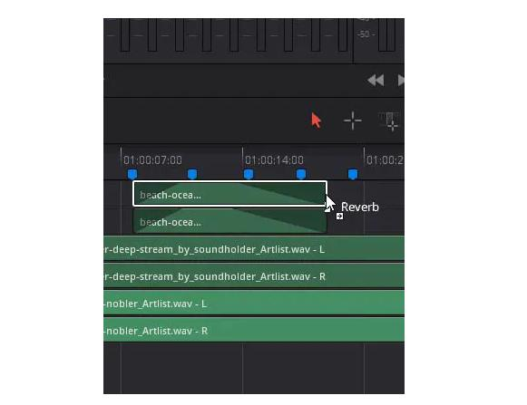 add audio reverb in davinci resolve2