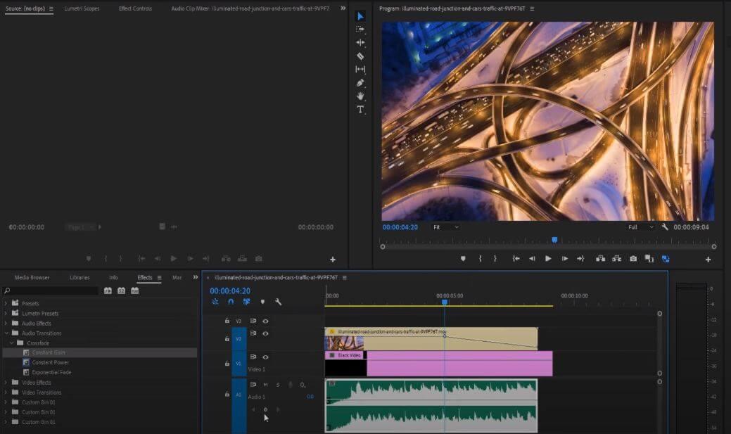 add a keyframe in premiere