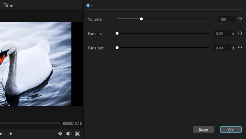 filme adjust audio