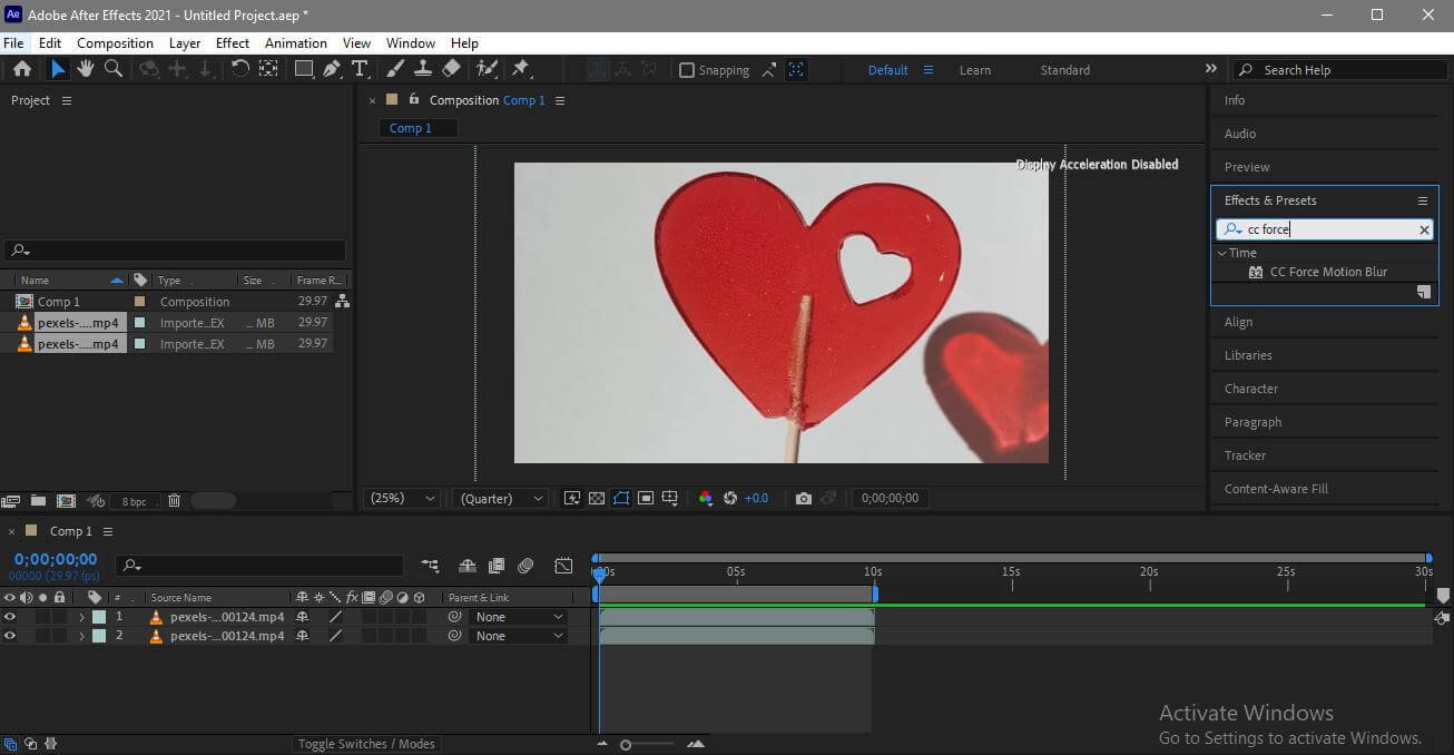 adobe after effects motion blur effect