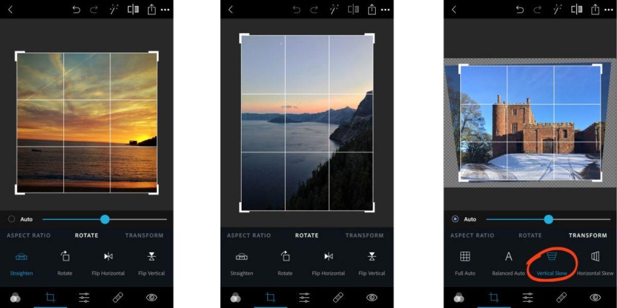 adobe photoshop express to mirror flip image in instagram