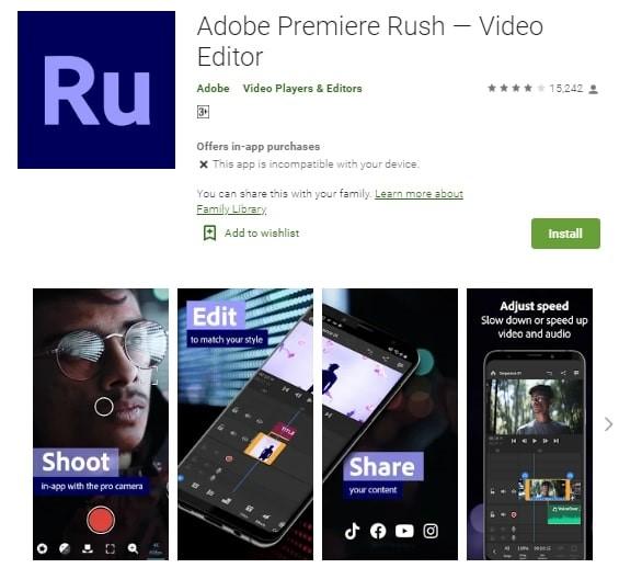 adobe premiere rush intro maker
