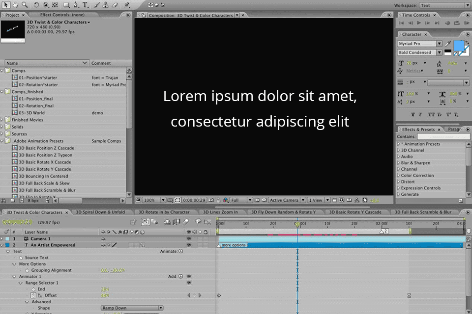 After effects 3.0