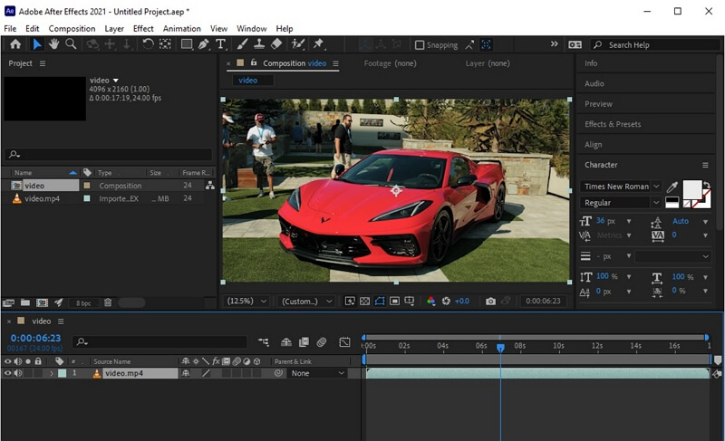 after effects select frame