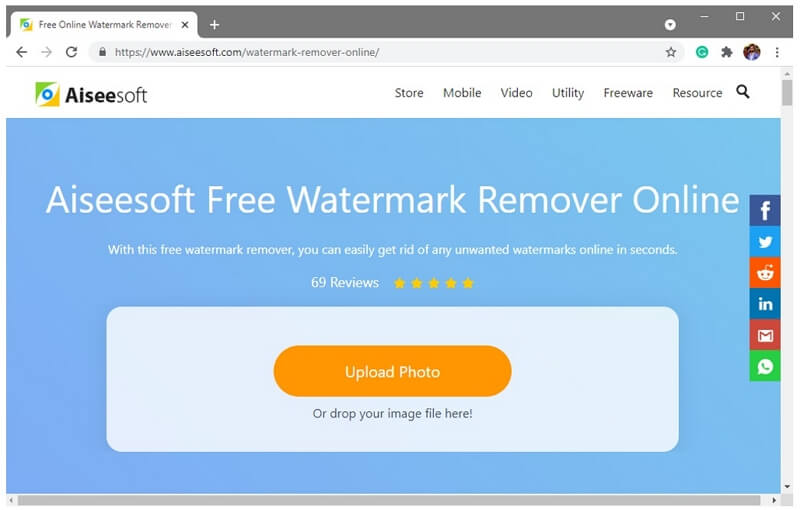 aiseesoft watermark remover