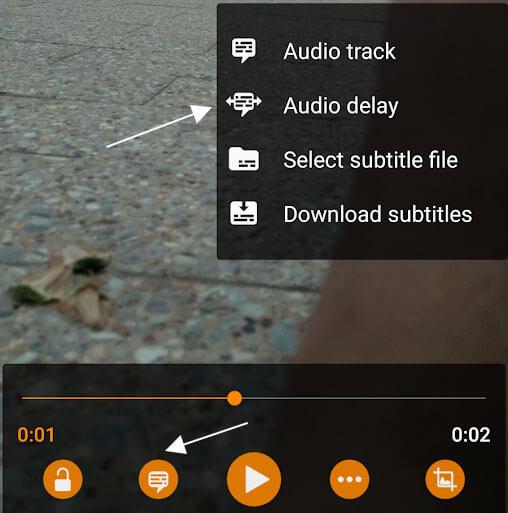 audio delay vlc