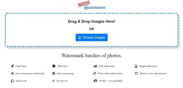 batch watermark choose image