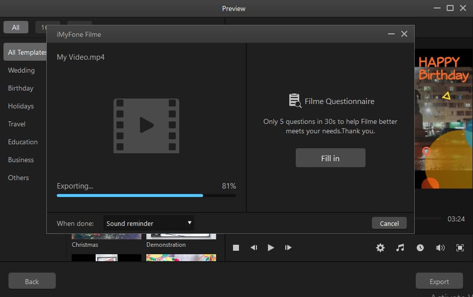 best alternative video editor iMyFone Filme3