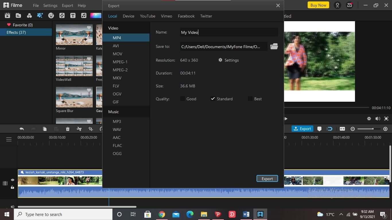 best-video-editor-to-blur-video-iMyFone-Filme-2