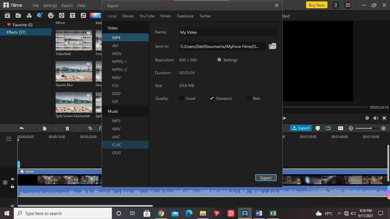 better-alternativ-than-filmora-for-motion-blur-iMyFone-Filme-2