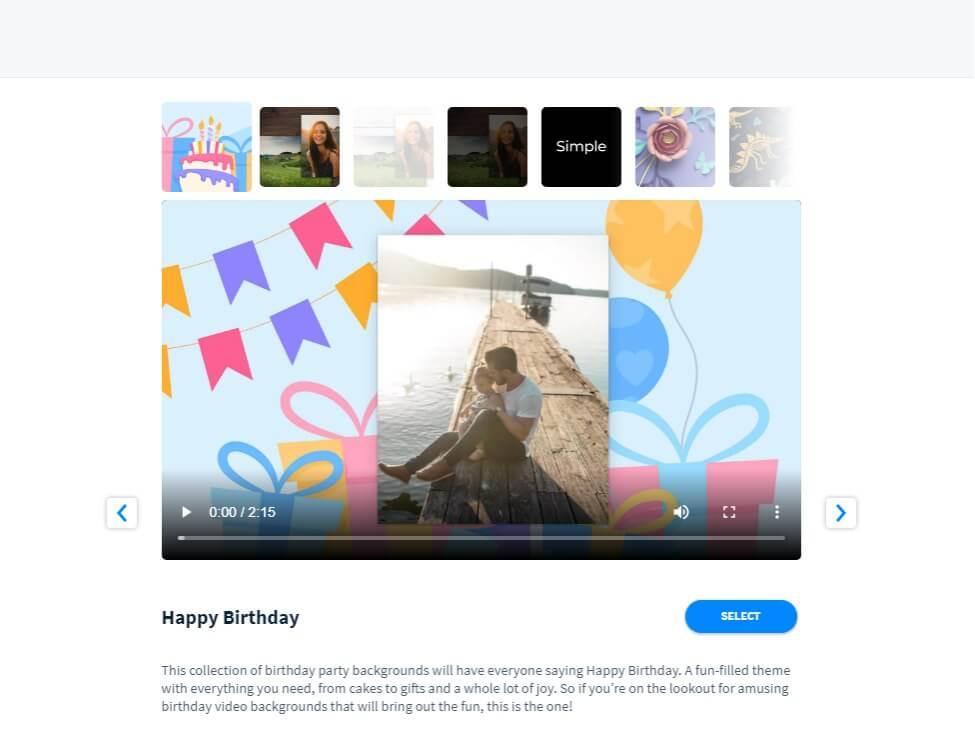 Vidday birthday video maker