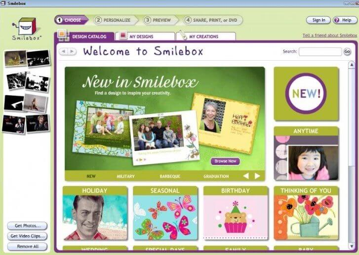 Smilebox birthday video maker