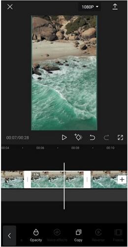 capcut freeze frame