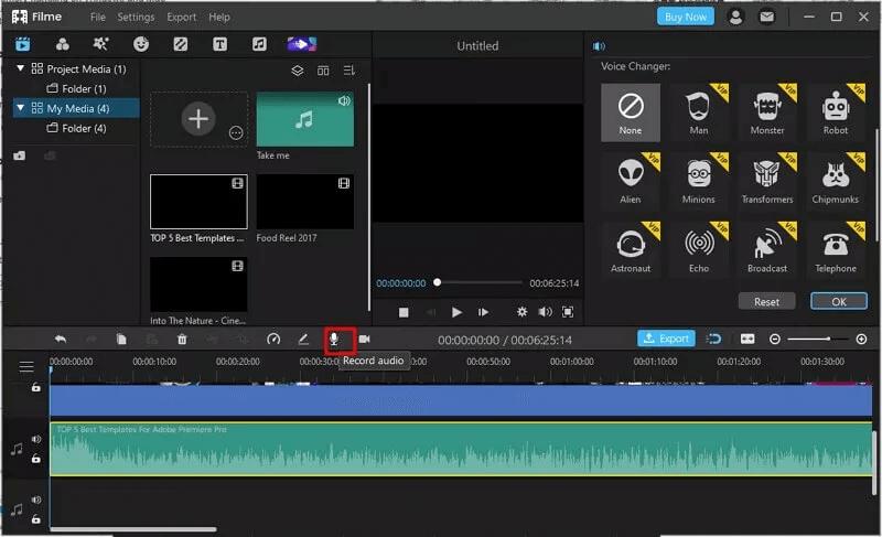 change the recording voice