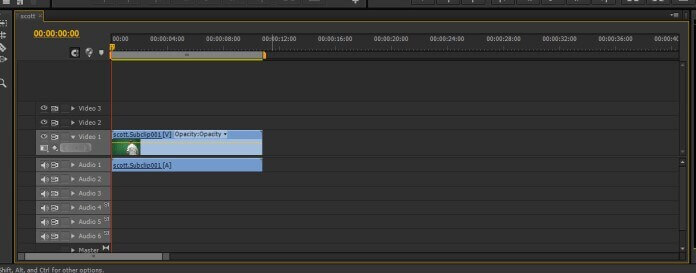 choose the sequence premiere pro