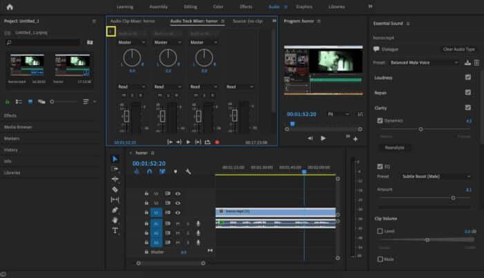 click the preset premiere pro