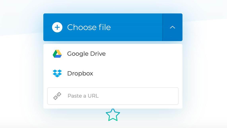 clideo choose file