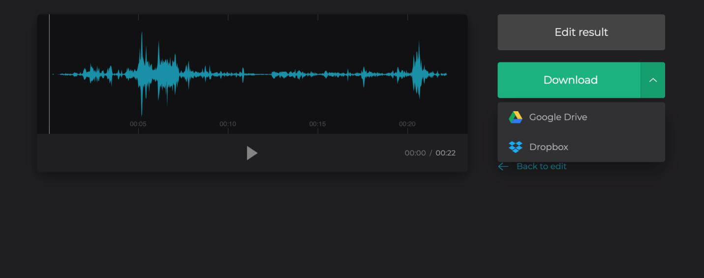 clideo save audio