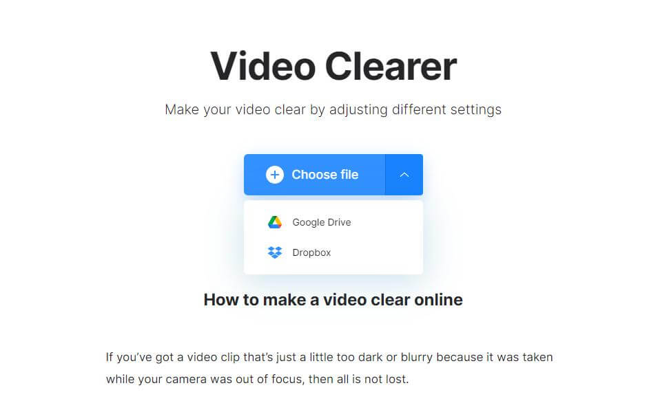 clideo video clearer