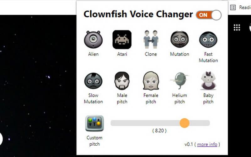 clowfish voice changer