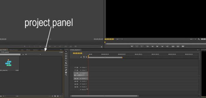 create project in premiere