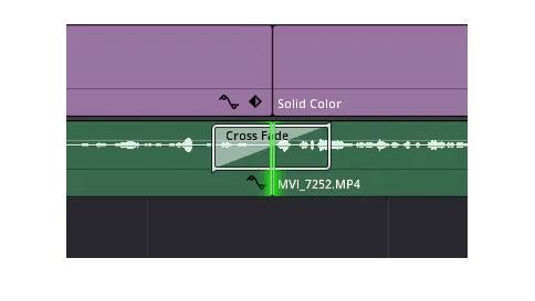 crossfade audio in davinci resolve2